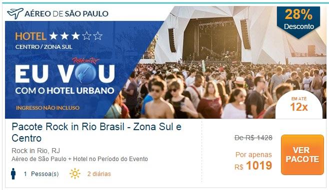 Pacote Rock in Rio 2015 Zona Sul
