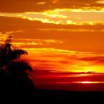 Vista Serra Negra por do sol
