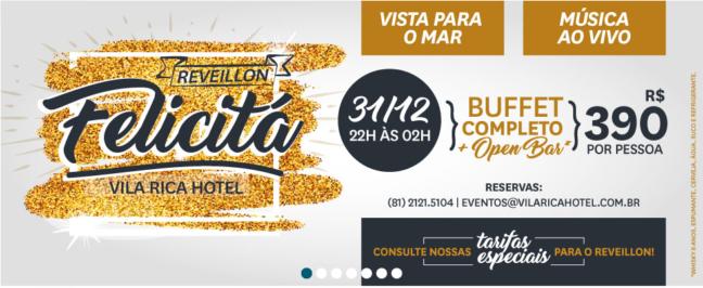 Reveillon 2017 Hotel Vila Rica Recife