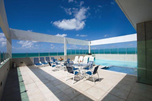 hotel jangadeiro com vista para o mar recife