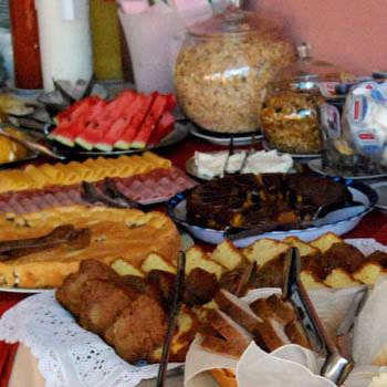 café da manhã hotel santamaria