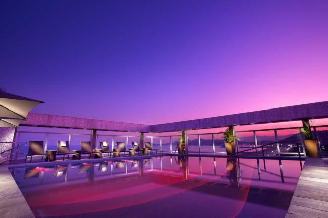 piscina de parque balneario em santos
