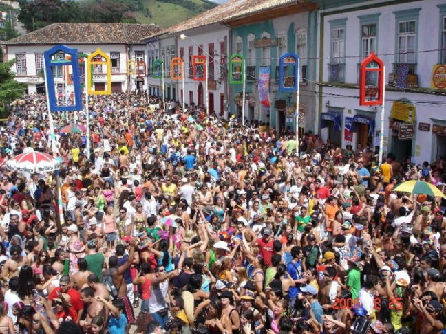 Blocos no carnaval de são luiz do paraitinga