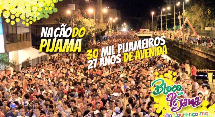 Bloco do Pijama em São Lourenço