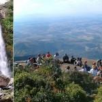 Cachoeira dos Garcias e pico do papagaio em Aiuruoca